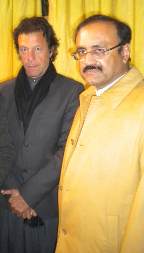 Malik Ahmad Khan Bhachar With Imran Khan